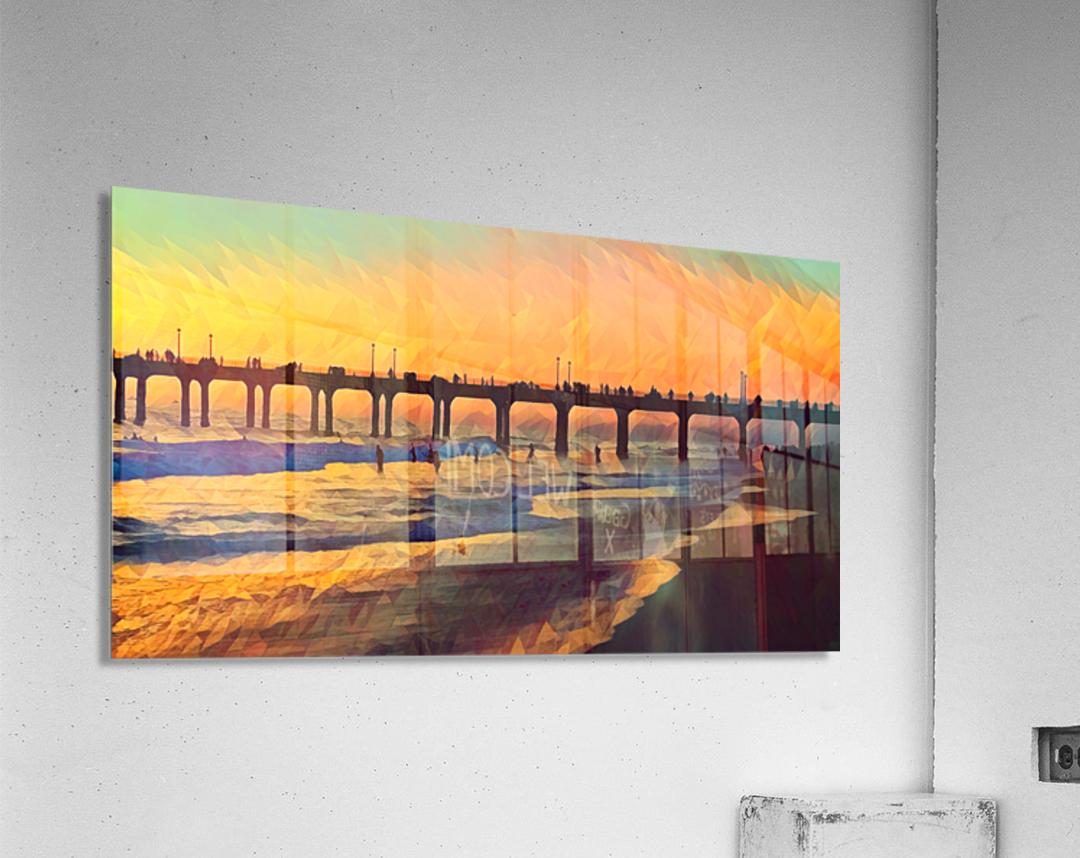 manhattan beach sunset art  Acrylic Print