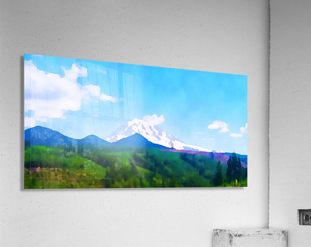 mt ranier clouds  Acrylic Print
