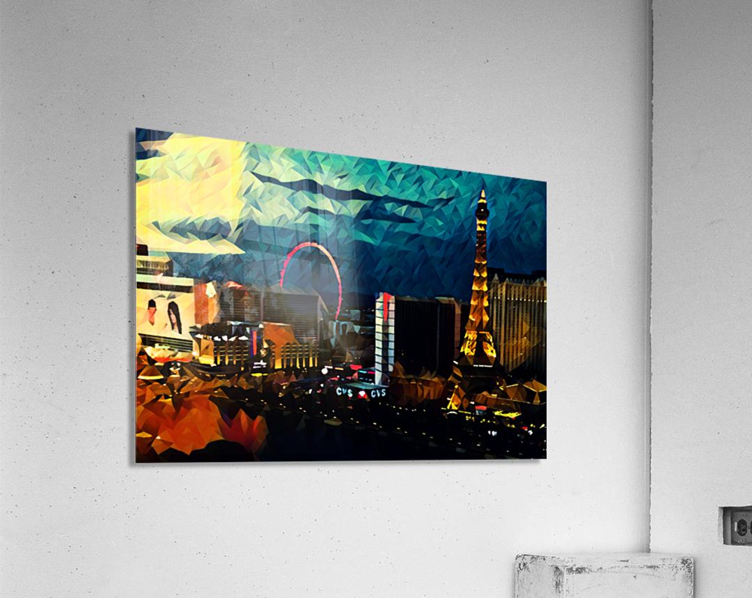 las vegas night  Acrylic Print