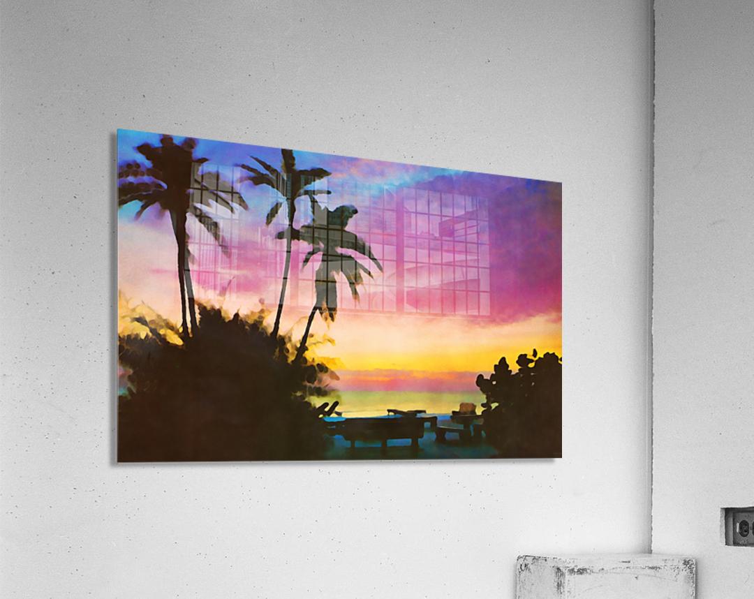 gulf of mexico sunset art  Acrylic Print