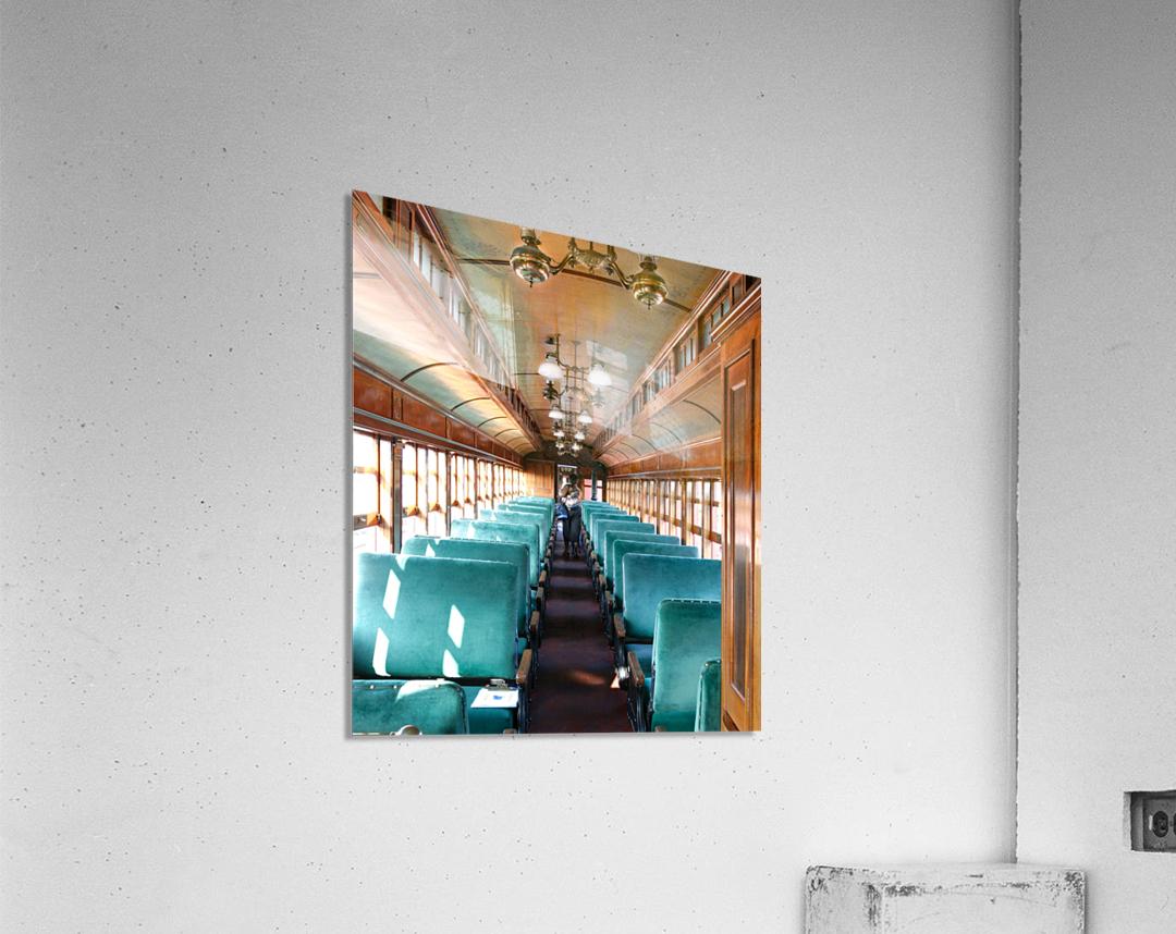 Interior of Antique Railcar.  Acrylic Print