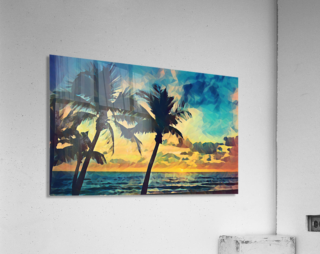 florida palm trees art  Acrylic Print