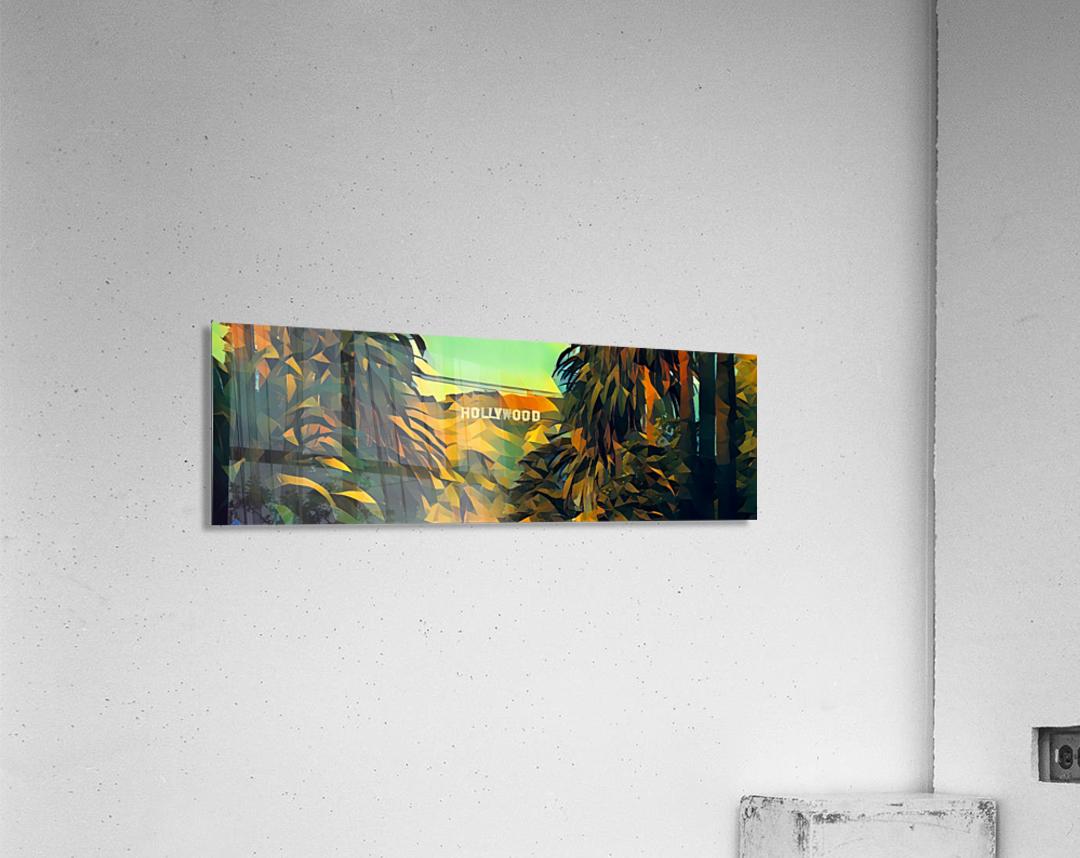 hollywood sign art  Acrylic Print