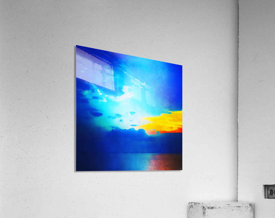 blue yellow magic  Acrylic Print