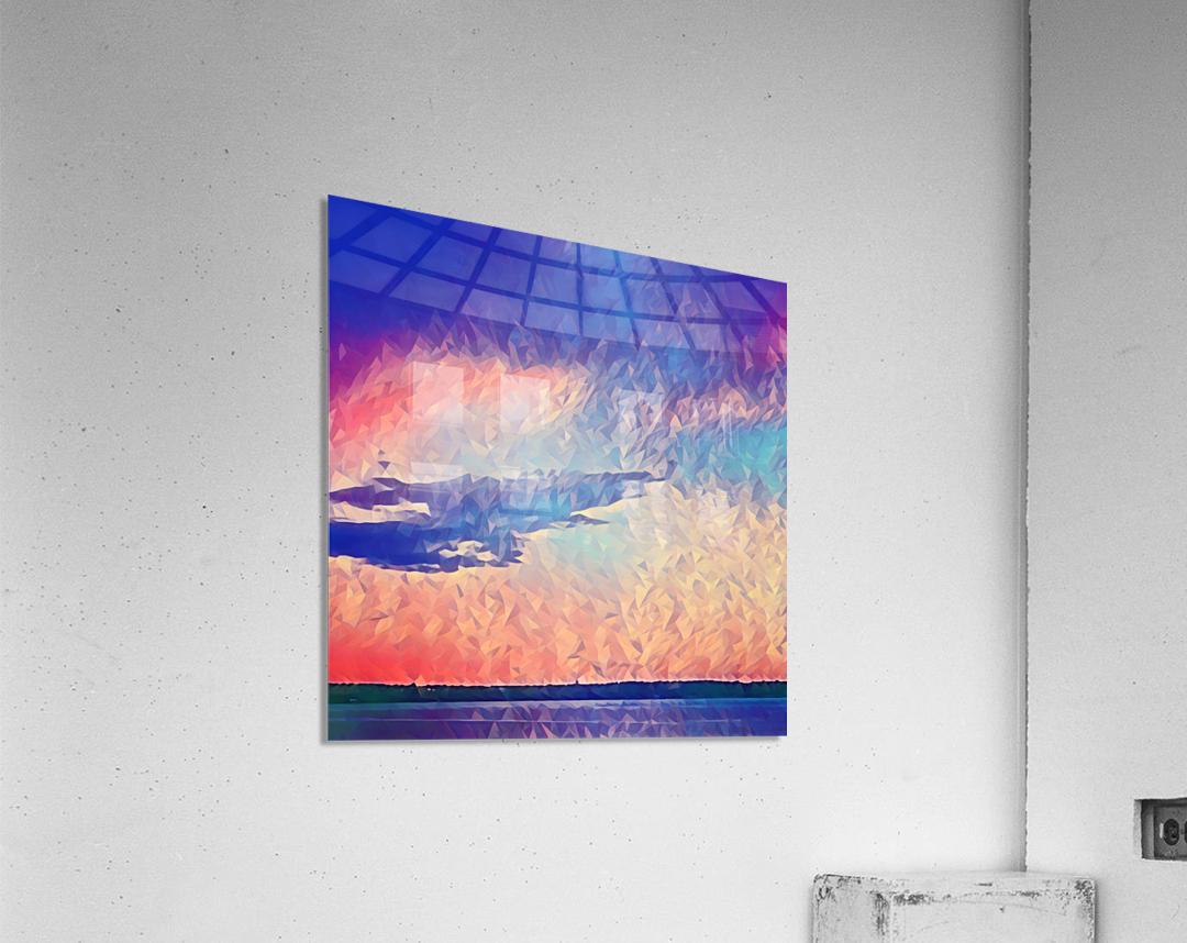 Pink Purple & Peach  Acrylic Print
