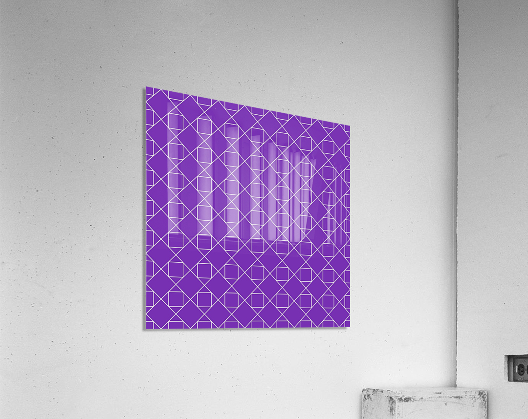 Purple Squares And Diamonds Pattern  Acrylic Print
