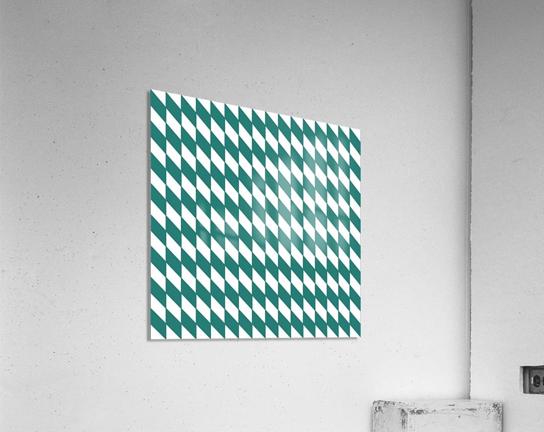 Dark Green Checkers Pattern  Acrylic Print