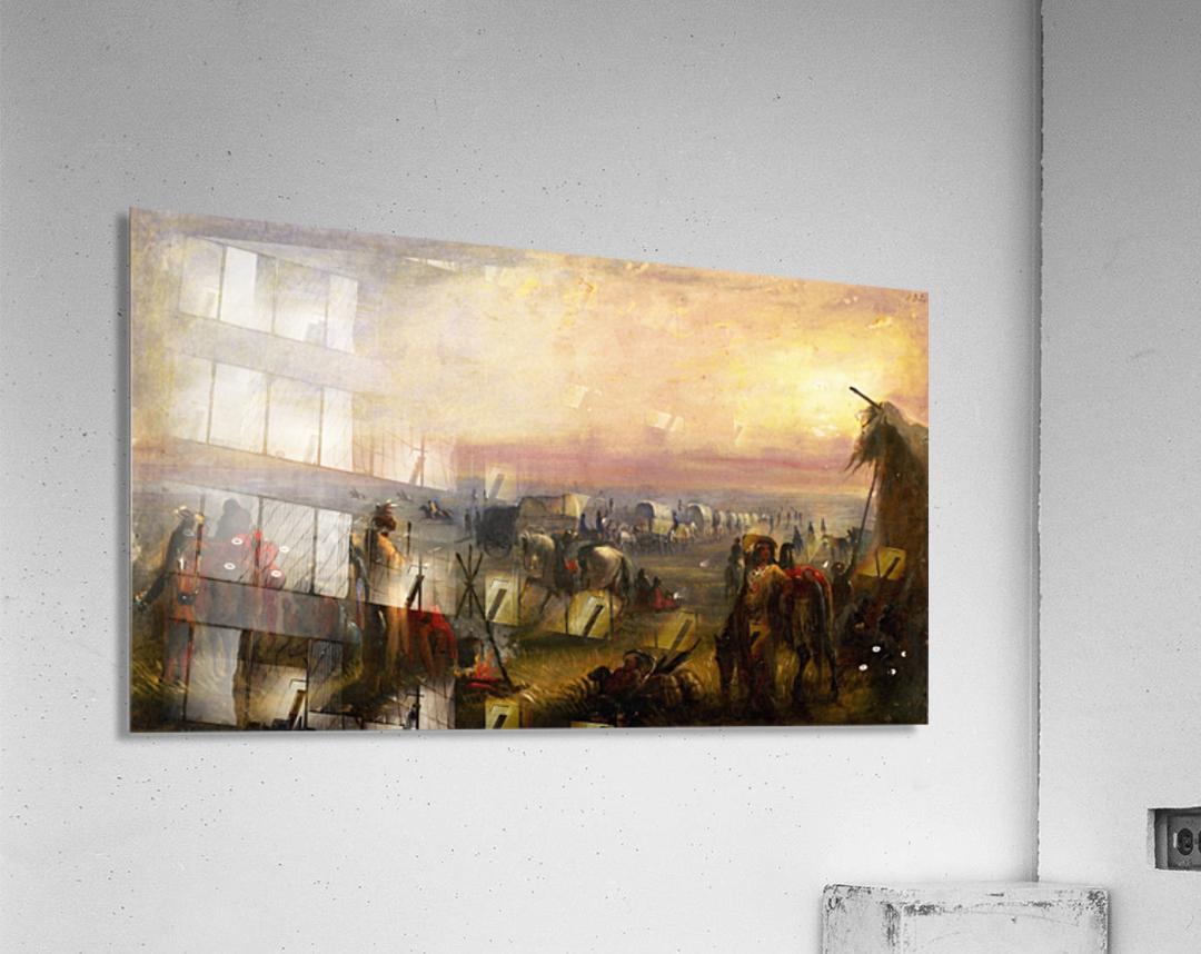 Departure of the Caravan at Sunrise  Acrylic Print
