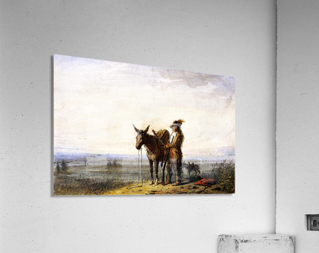 Old Bill Burrows a Free Trapper  Acrylic Print