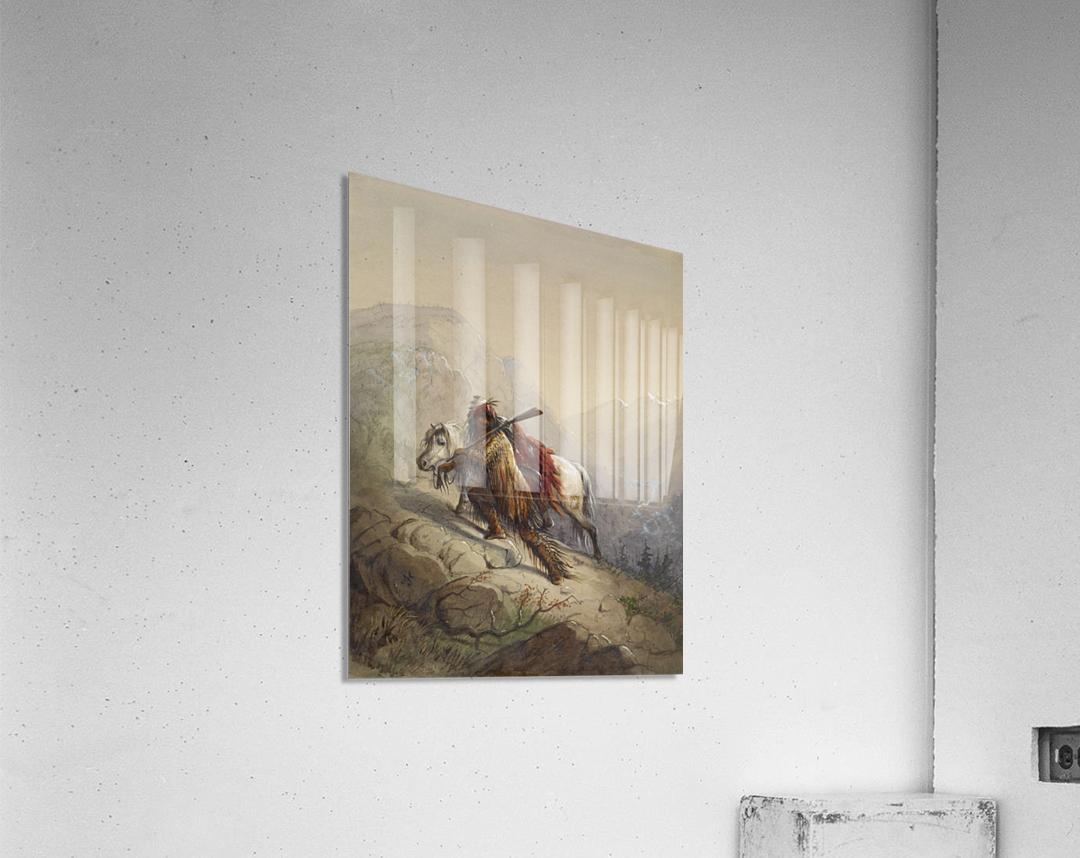 The Scalp-Lock  Acrylic Print