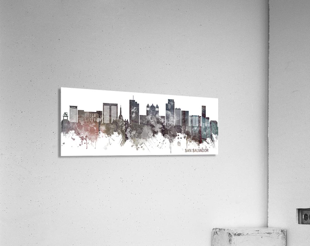 San Salvador Skyline BW  Acrylic Print