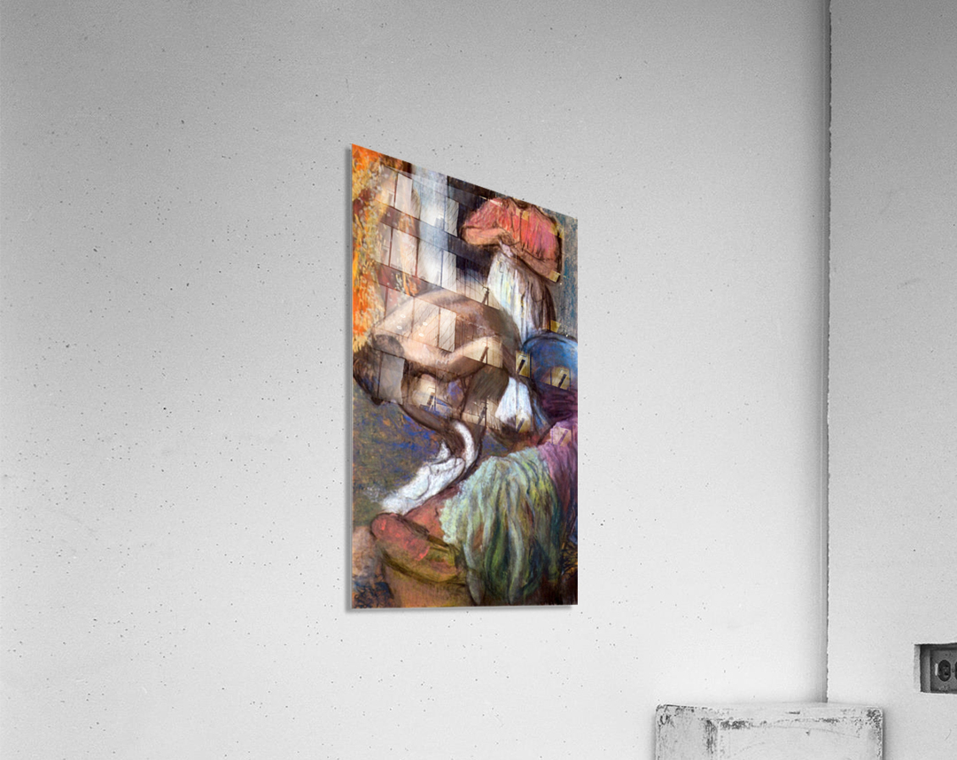 The strengthening after the bathwater by Degas  Acrylic Print