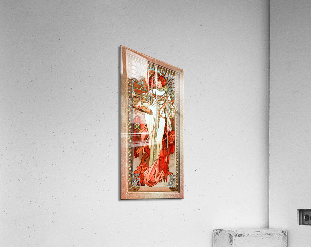 LAutomne by Alphonse Mucha Old Masters Reproduction  Acrylic Print