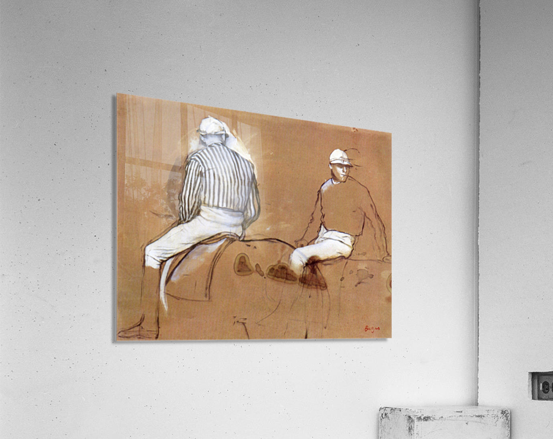 Two jockeys by Degas  Acrylic Print