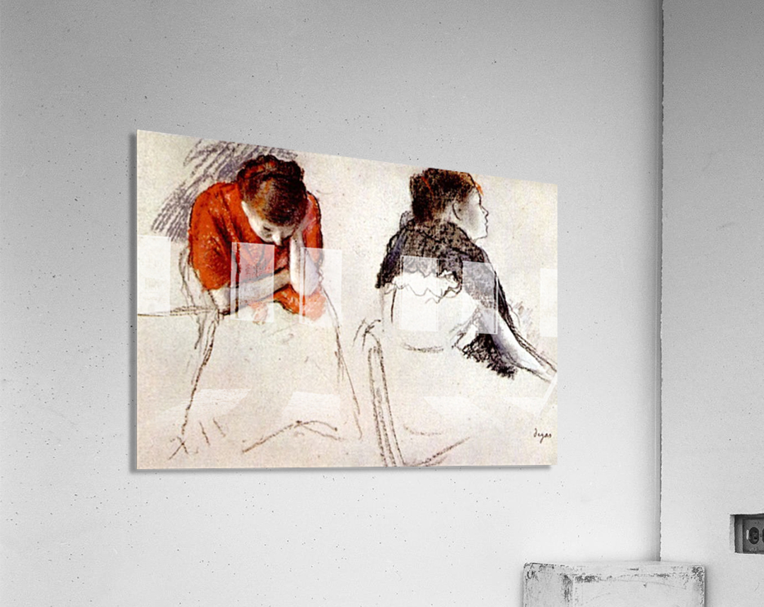 Two women seated by Degas  Acrylic Print