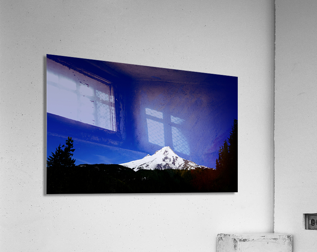 Mount Hood in the Waning Light of Day - Oregon Columbia River Gorge  Acrylic Print
