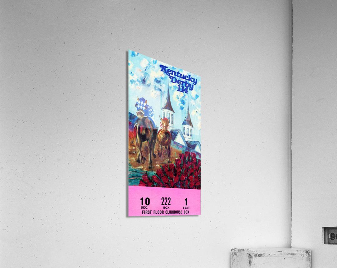 1988 Kentucky Derby Ticket Stub Canvas   Acrylic Print