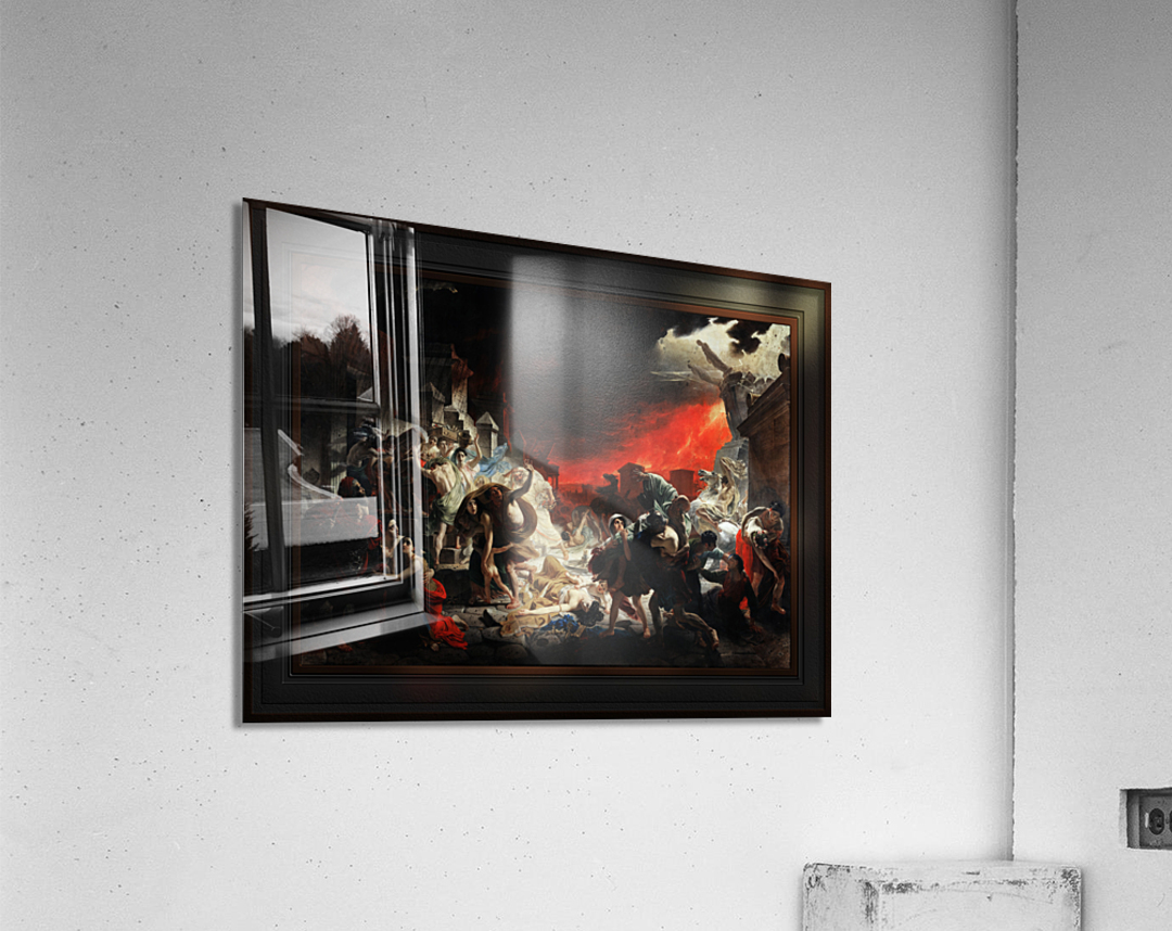 The Last Day of Pompeii by Karl Bryullov Classical Fine Art Xzendor7 Old Masters Reproductions  Acrylic Print