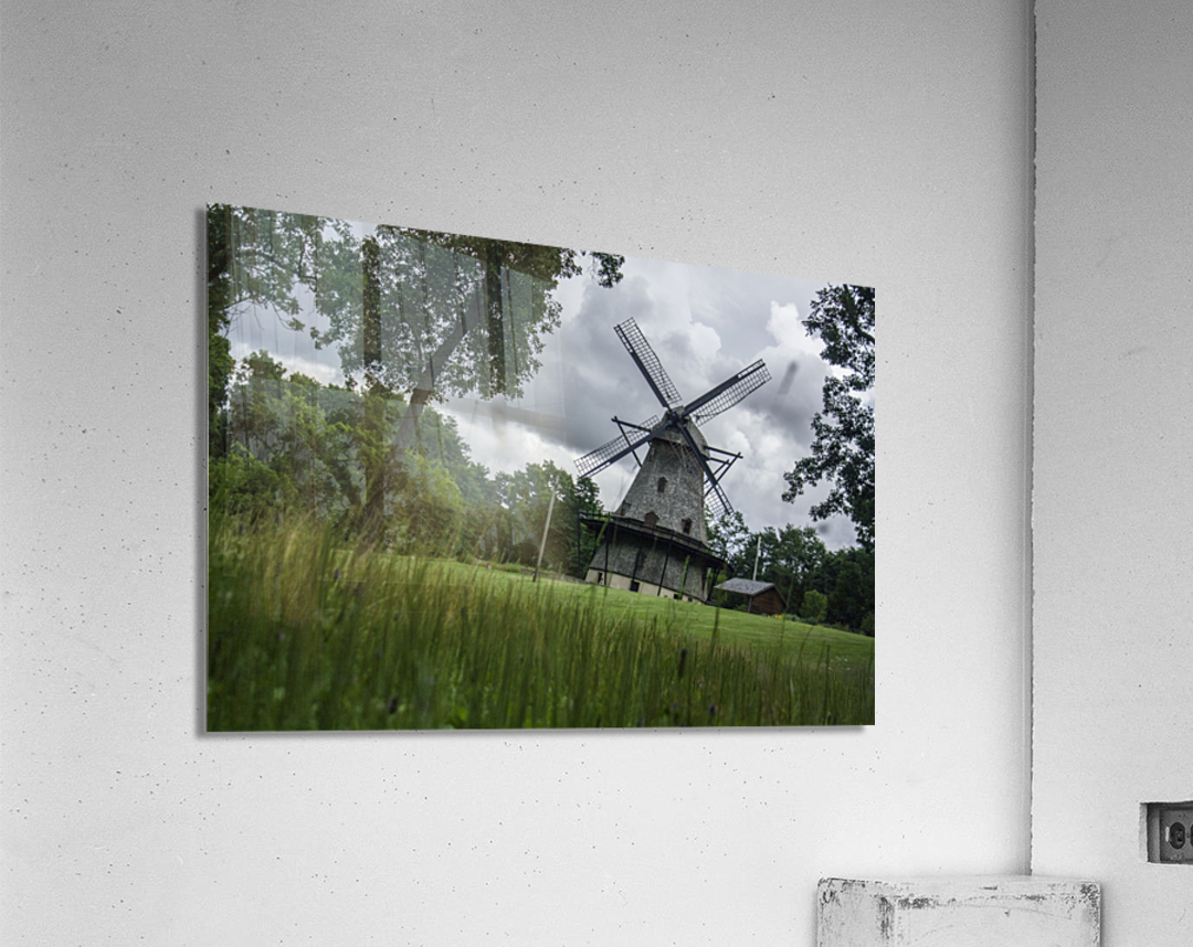 Windmill in a Storm  Acrylic Print
