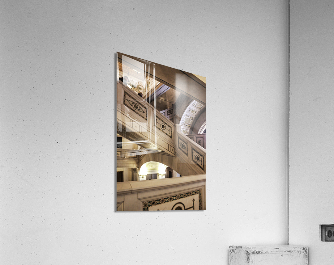 A Painting of Stairs  Acrylic Print