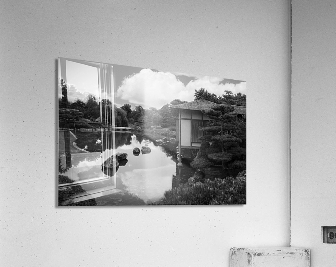 Black White Pond  Acrylic Print