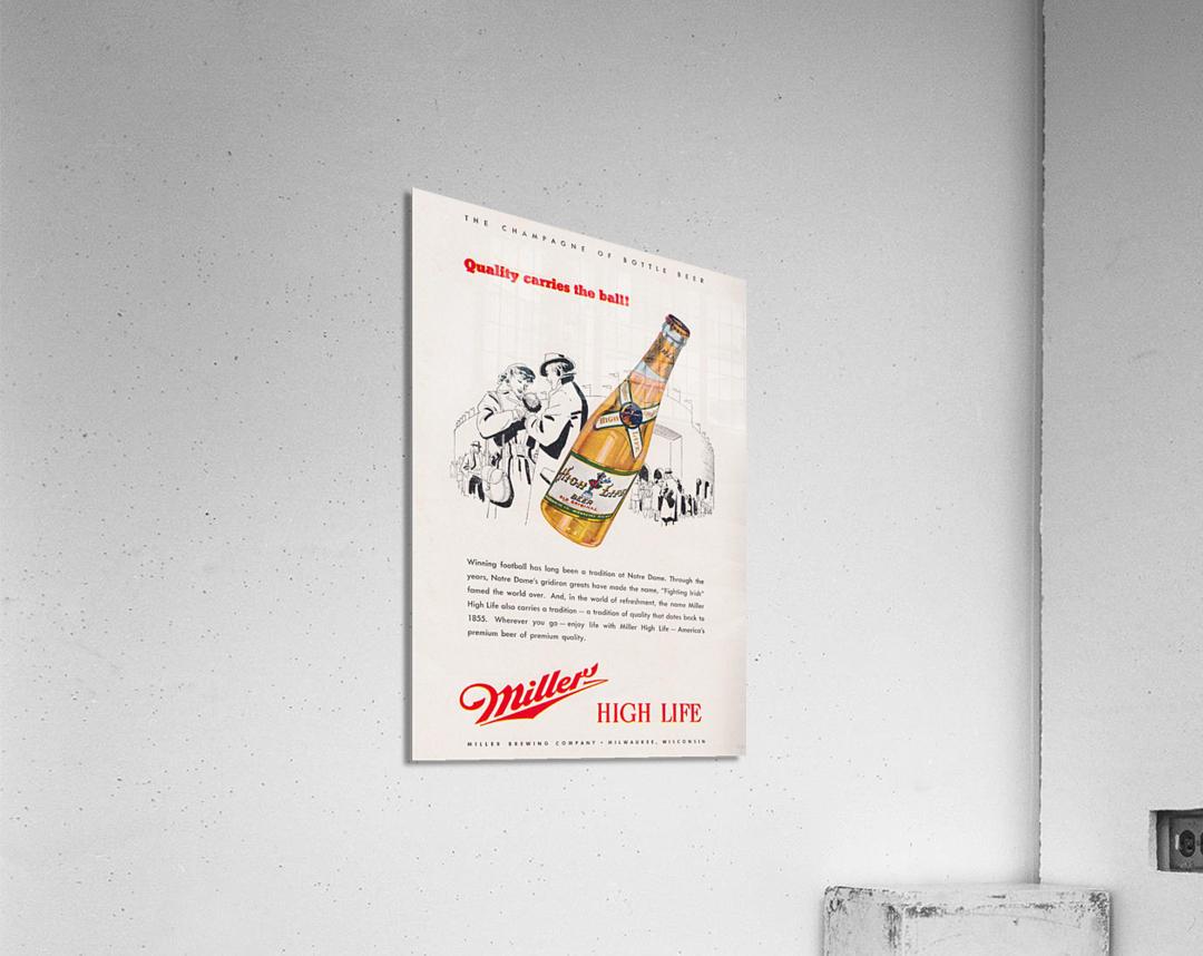 1947 Miller Beer Ad   Acrylic Print