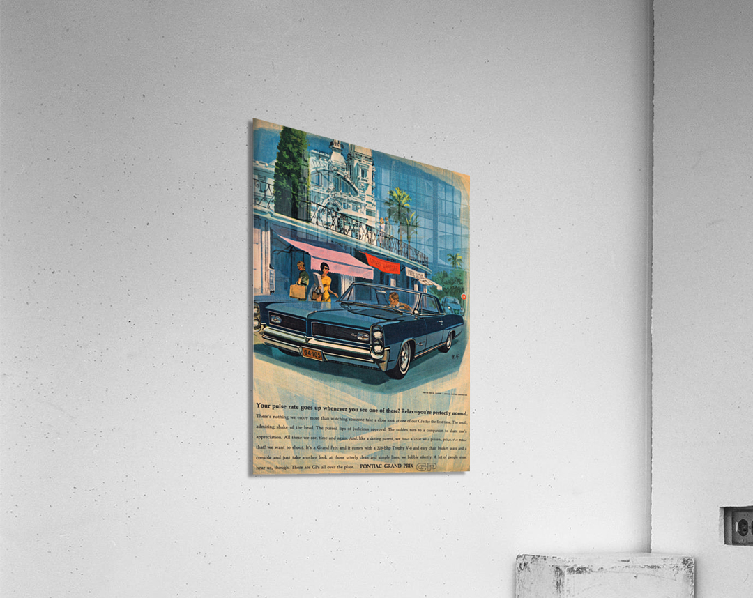 1964 Pontiac Grand Prix Car Advertisement  Acrylic Print