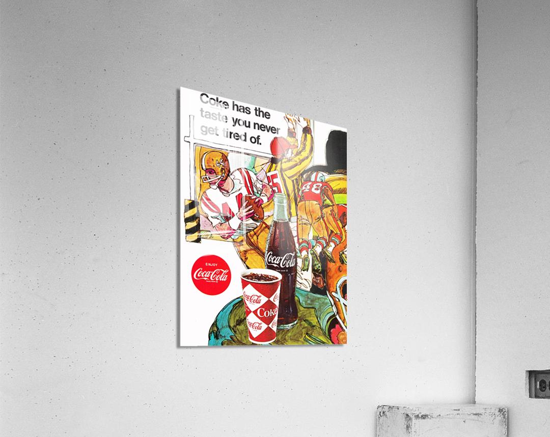 1969 Coke Football Ad Poster  Acrylic Print