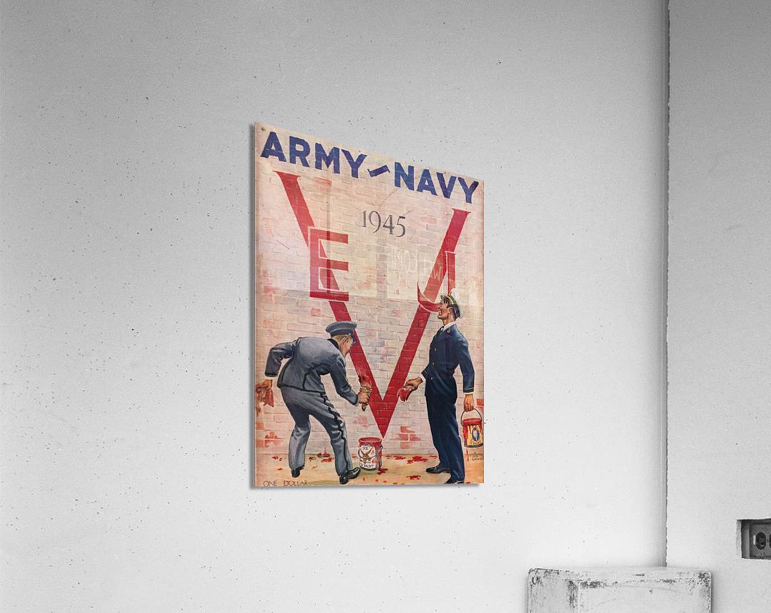 1945 Army Navy Football Program Canvas Art  Acrylic Print
