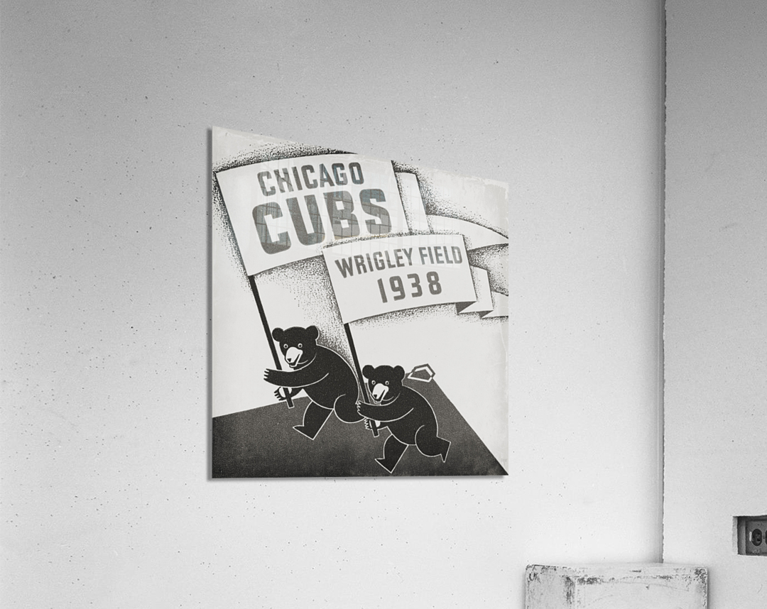 1938 Chicago Cubs Remix Row 1  Acrylic Print
