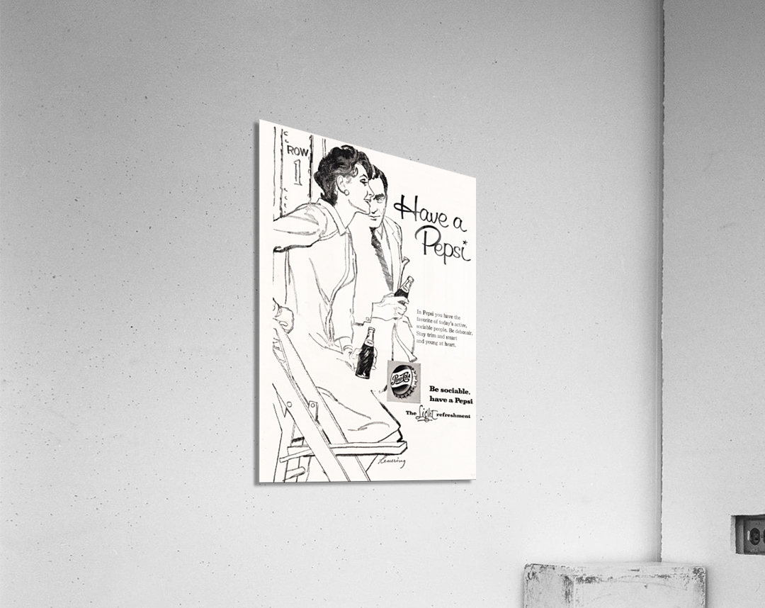 1960 Pepsi Advertisement Poster  Acrylic Print