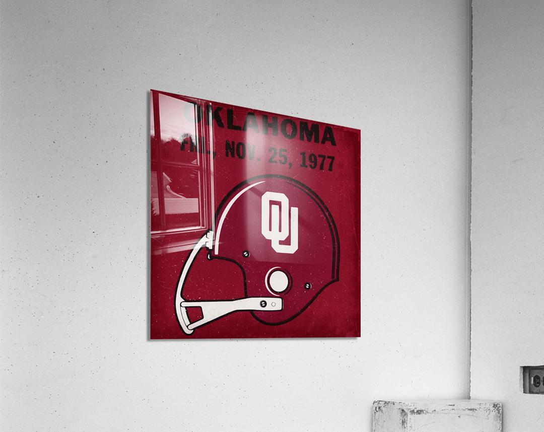 1977 Oklahoma Football Ticket Remix Row 1  Acrylic Print