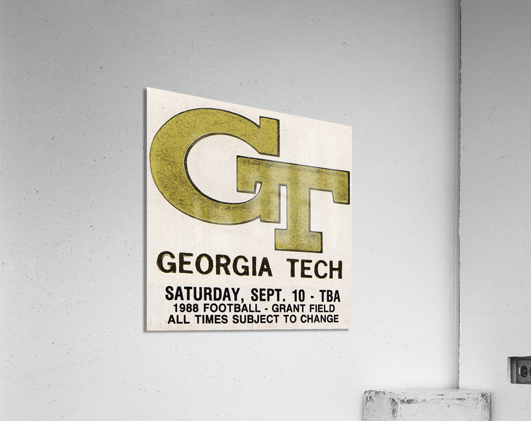 1988 Georgia Tech Football Ticket Stub Remix  Acrylic Print