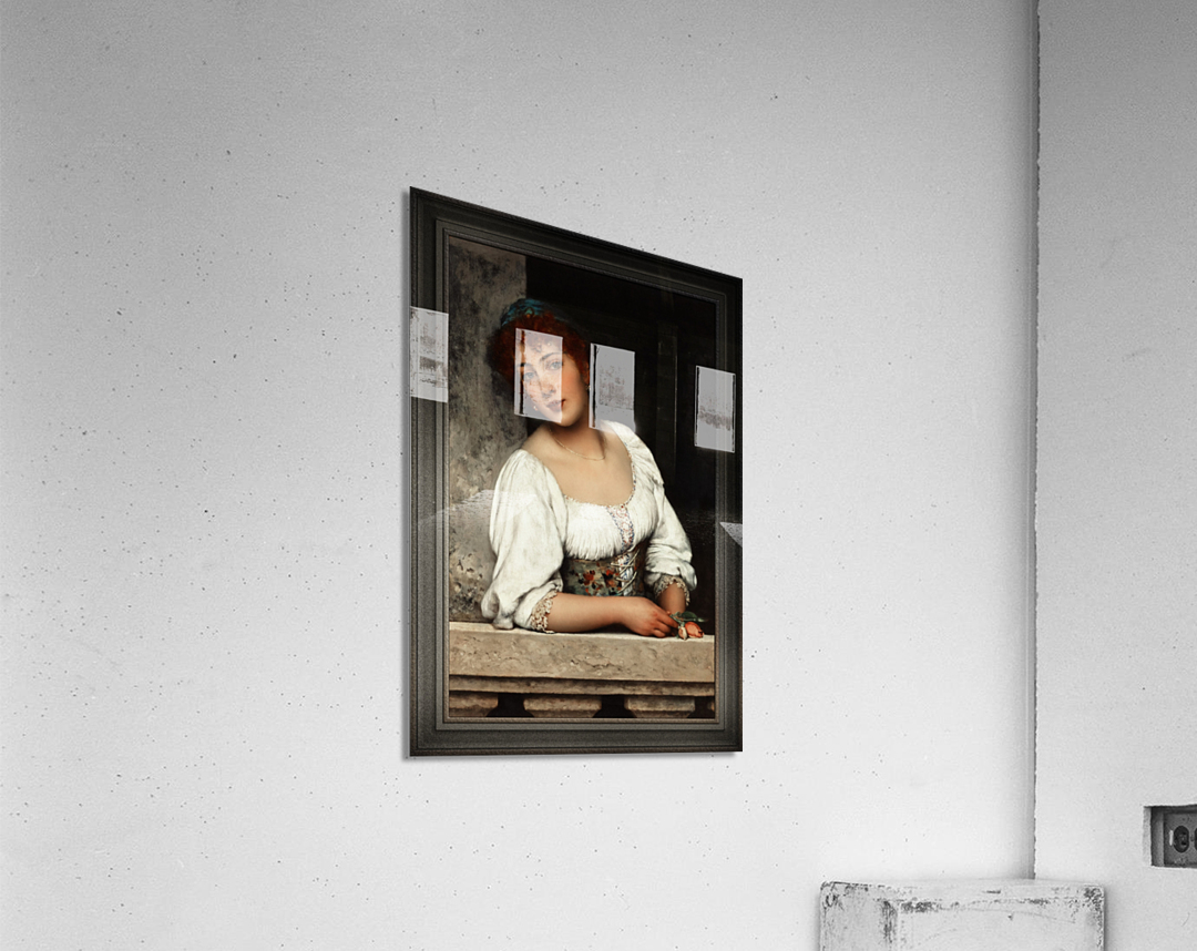 Girl At The Window by Eugen von Blaas Classical Art Xzendor7 Old Masters Reproductions  Acrylic Print