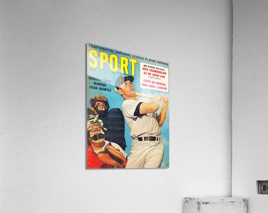 1960 Mickey Mantle Sport Cover Art  Acrylic Print