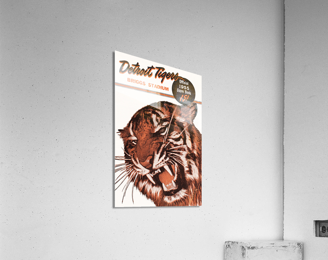1955 Detroit Tigers Score Book Canvas  Acrylic Print