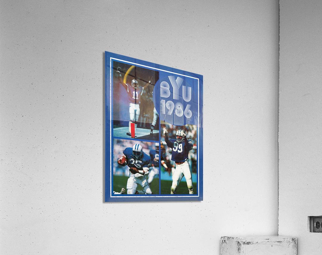1986 BYU Cougars Football Art  Acrylic Print