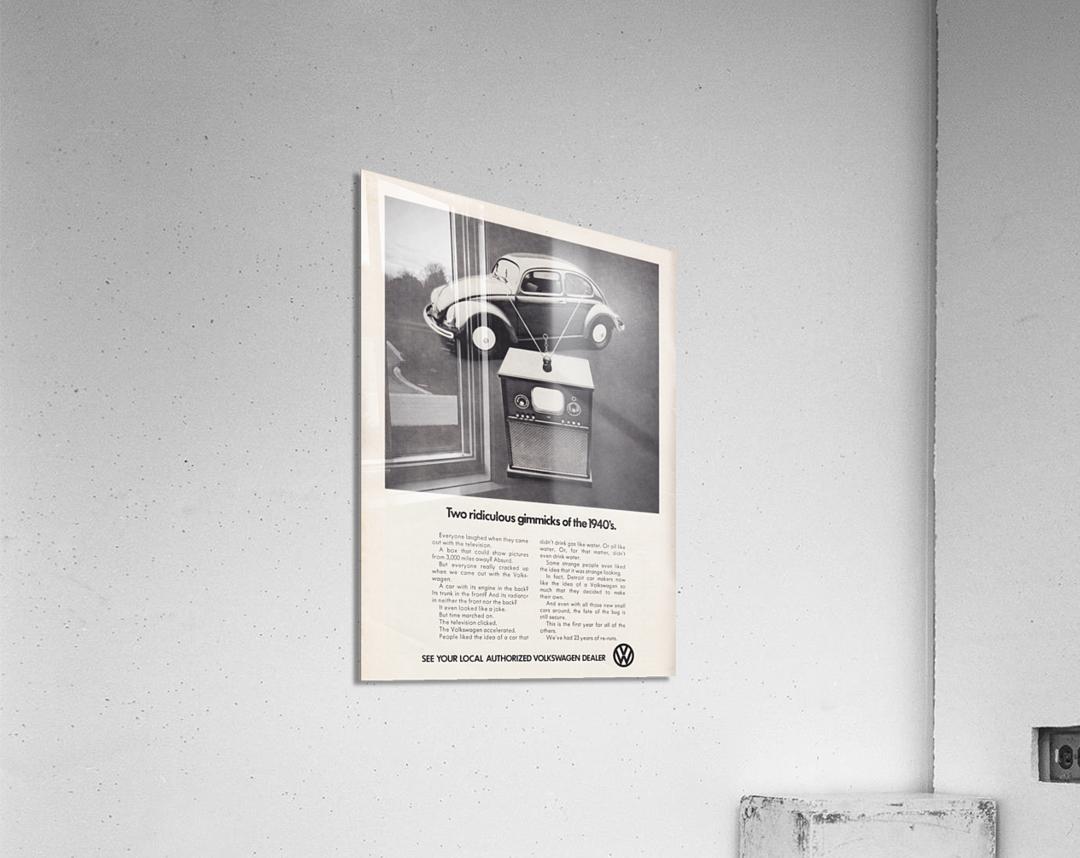 1971 Vintage Volkswagen Car Ad Poster  Acrylic Print