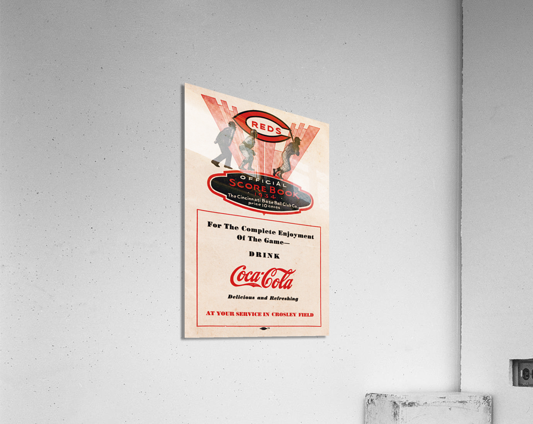 1934 Cincinnati Reds Score Book & Coke Ad  Acrylic Print