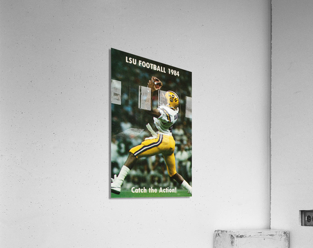 1984 LSU Tigers Football Catch The Action  Acrylic Print