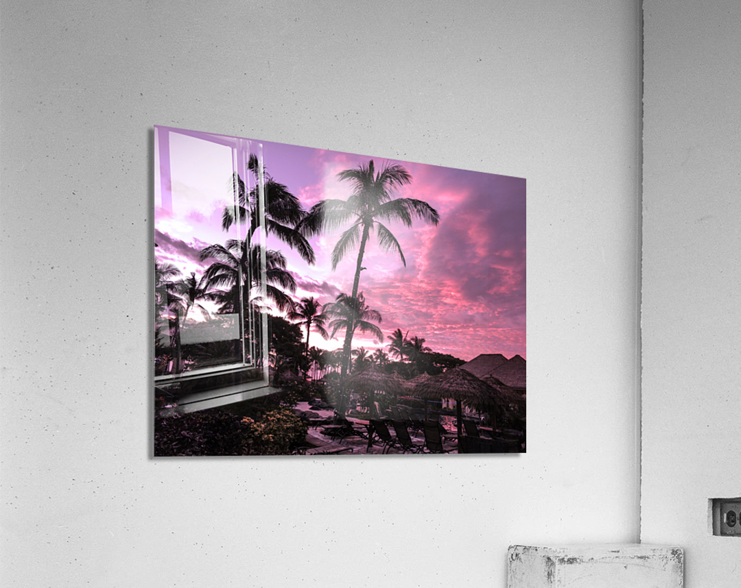 After the Beach Party - Tropical Sunset Hawaii  Acrylic Print