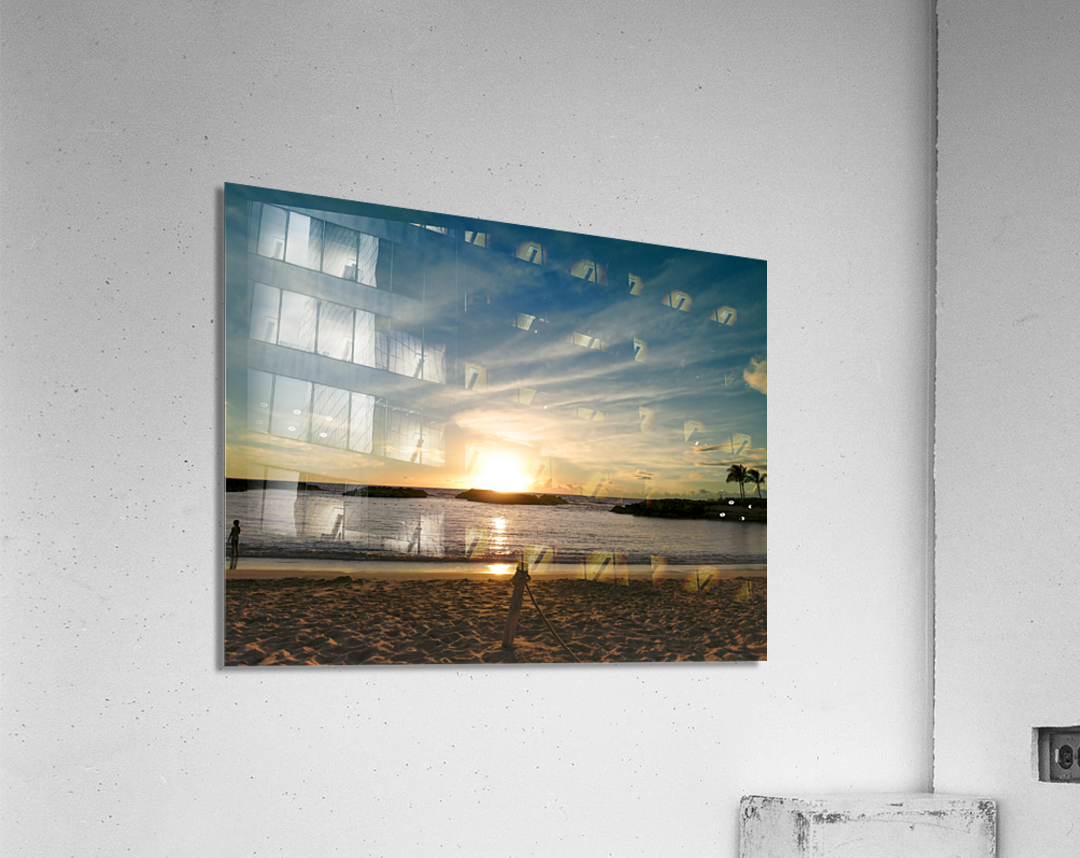 By the Fading Light of the Sun - Tropical Sunset Hawaii  Acrylic Print
