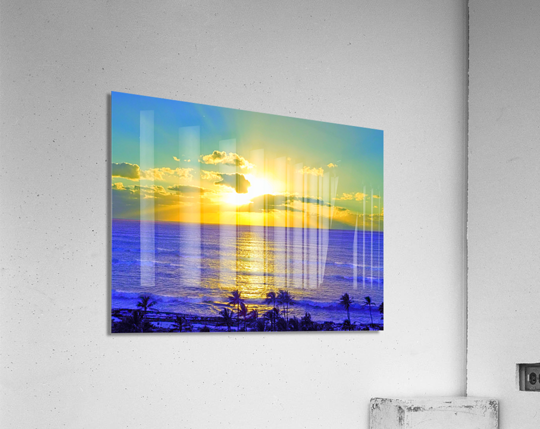 Golden Sunset After the Storm  Acrylic Print