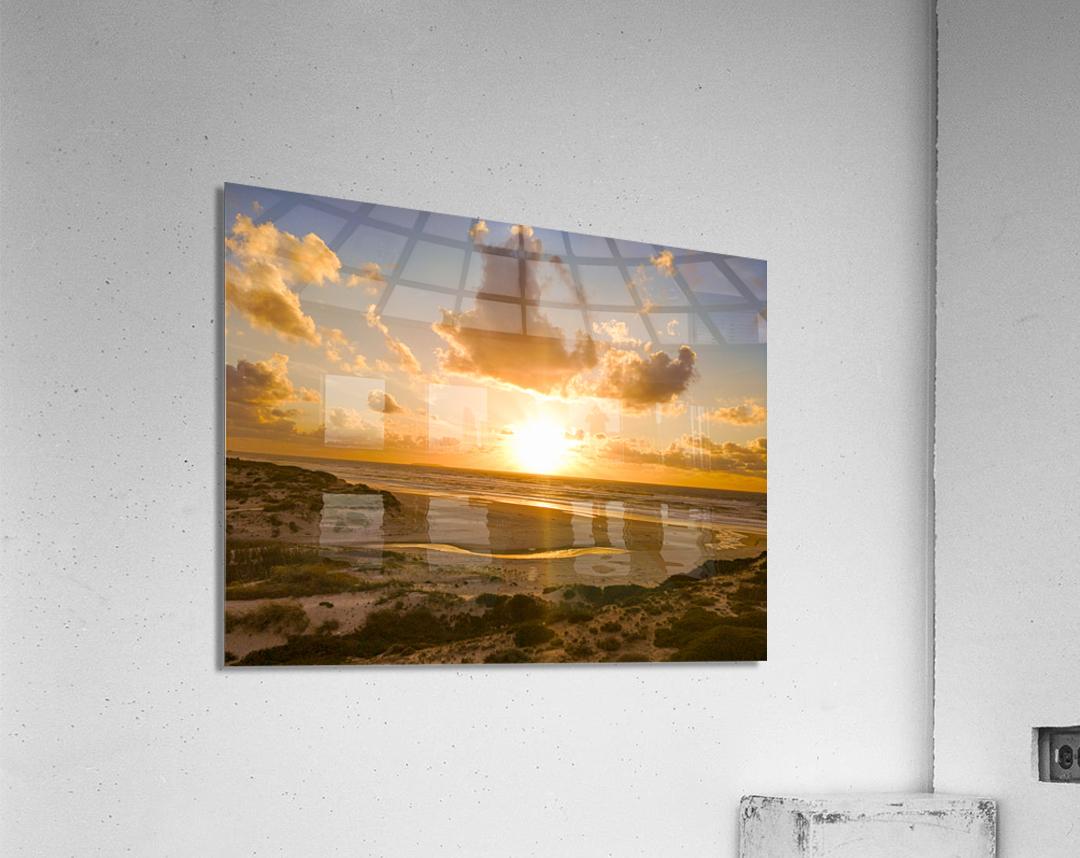 Atlantic Sunset over Praia Del Rey - Portugal  Acrylic Print