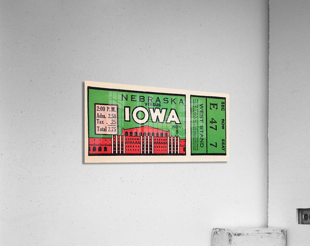 1932 Iowa Hawkeyes vs. Nebraska Cornhuskers  Acrylic Print