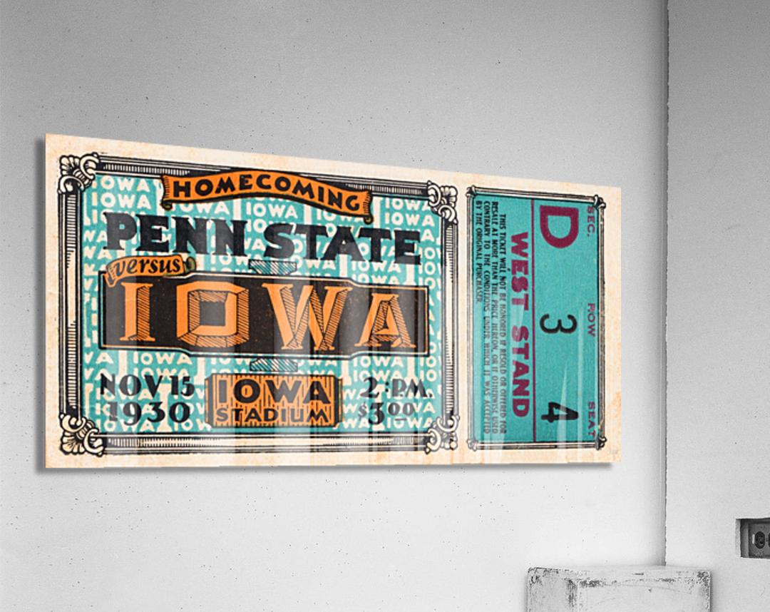 1930 Iowa vs. Penn State  Acrylic Print