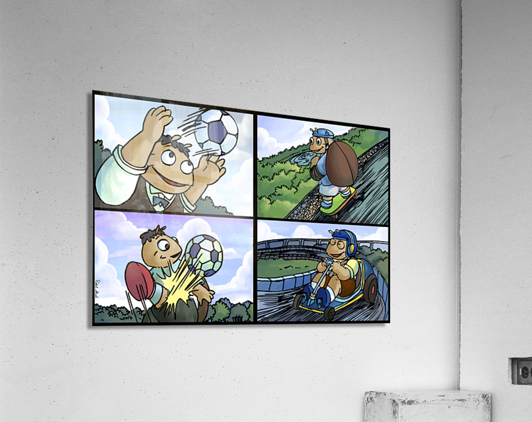 Barry the Beetle in Action   4 panel Favorites for Kids Room and Nursery   Bugville Critters  Acrylic Print