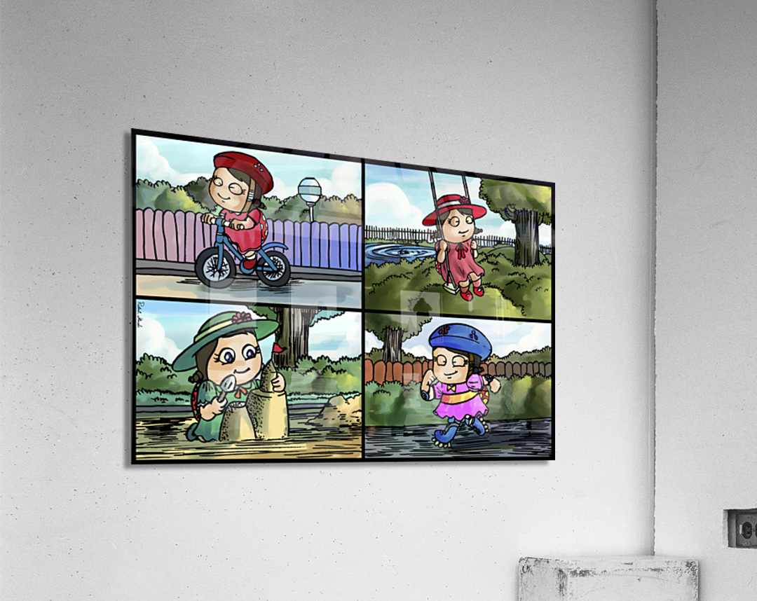 Lass the Ladybug in Action   4 panel Favorites for Kids Room and Nursery   Bugville Critters  Acrylic Print