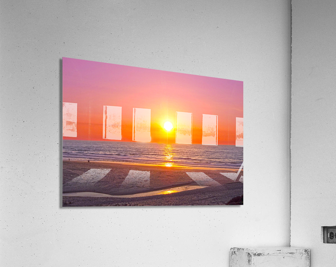 Serenity Found - Calming Atlantic Sunset in Portugal  Acrylic Print