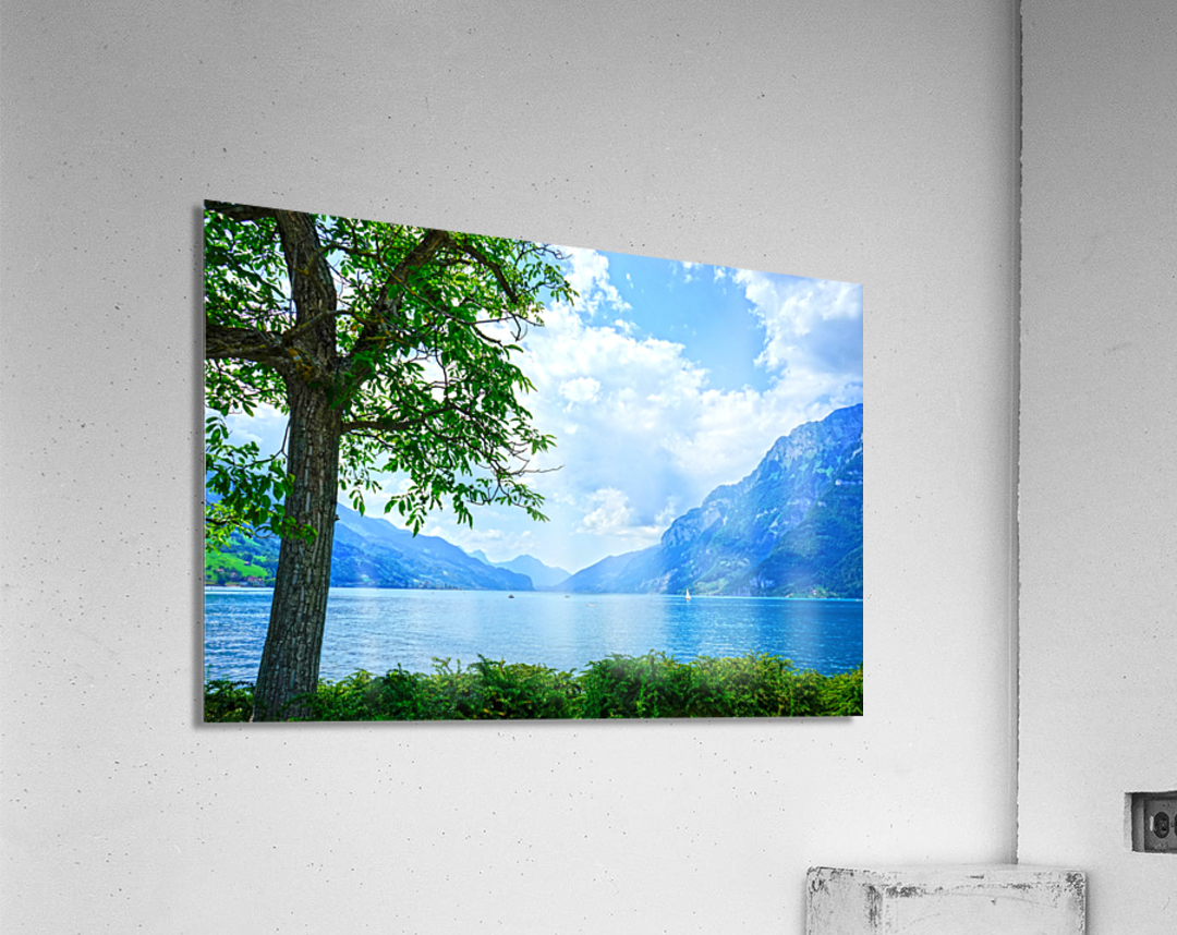Snapshot in Time Walensee - Lake Walen Switzerland 3 of 3  Acrylic Print
